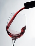 Pouring Red Wine Photographic Print by Caroline Martin