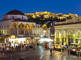 Monastiraki Square and Acropolis, Monastiraki, Athens, Greece Photographic Print by Doug Pearson