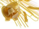 Various Types of Pasta Fotografisk tryk af Janez Puksic