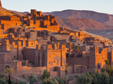 Sunrise over Ait Benhaddou, Atlas Mountains, Morocco Fotografisk tryk af Doug Pearson