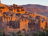 Sunrise over Ait Benhaddou, Atlas Mountains, Morocco Photographic Print by Doug Pearson