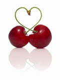 Pair of Cherries Forming a Heart Fotografie-Druck von  Kröger & Gross