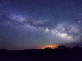 Night Sky, Sunset Crater National Monument, Arizona, USA Photographic Print by Christian Heeb