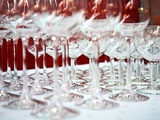 Empty Wine Glasses Photographic Print by Andreas Wegelin
