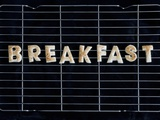 Toast Letters Spelling the Word Breakfast on a Rack Photographic Print by Neil Setchfield