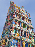 Gopuram of the Sri Mariamman Temple in Singapore, a Dravidian Style Temple in Singapore's Chinatown Photographic Print by Gavin Hellier