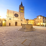Italy, Umbria, Perugia District, Bevagna, Piazza Silvestri and San Michele Cathedral Photographic Print by Francesco Iacobelli