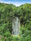 Dominican Republic, Eastern Peninsula De Samana, El Limon Waterfall Fotografiskt tryck av Jane Sweeney