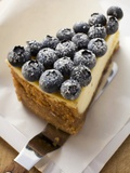 Piece of Blueberry Cheesecake Photographic Print