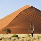 Red Sand Dunes in the Namib-Naukluft National Park, Namibia, Africa Photographic Print by Christian Heeb