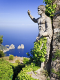 Italy, Campania, Napoli District, Anacapri, Solaro Mount, the Statue of Emperor Augustus, View from Photographic Print by Francesco Iacobelli