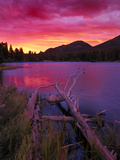Sprague Lake at Sunrise in the Rocky Mountain National Park, Colorado, USA Photographic Print by Christian Heeb