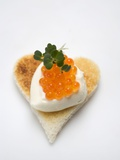 Canapé: Sour Cream and Keta Caviar on Toast Photographic Print