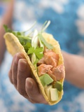Woman Holding Taco Photographic Print