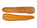 One Whole and One Half Organic Carrot Photographic Print by Steven Morris