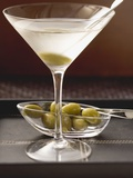 Martini with Olives Photographic Print