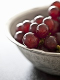 A Bowl of Red Grapes Photographic Print by Martina Schindler