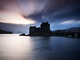 Eilean Donan Castle at Sunset, Scotland, UK Photographic Print by Nadia Isakova