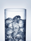 Ice Cubes in Glass of Water Photographic Print by Petr Gross