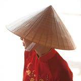 Girl Wearing Ao Dai Dress, Hanoi, Vietnam Photographic Print by Jon Arnold