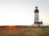 Yaquina Head Lighthouse, Oregon Coast, Oregon, USA Photographic Print by Christian Heeb