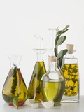 Various Herb and Spice Oils Photographic Print
