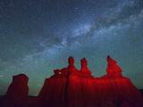Goblin Valley State Park, Night Sky, Colorado Plateau, Utah, USA Photographic Print by Christian Heeb