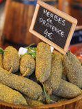 France, Provence, Arles, Market, Herbs and Sausages Photographic Print by Shaun Egan