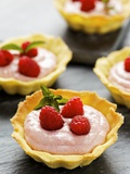 Several Raspberry Tarts Photographic Print by Herbert Lehmann