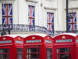 England, London, the Strand, Red Telephone Box and Union Jack Bunting to Celebrate the Queens Diamo Photographic Print by Jane Sweeney