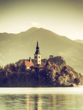 Slovenia, Bled, Lake Bled and Julian Alps Photographic Print by Michele Falzone
