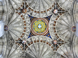 Fan Vault of Bell Harry Tower of Canterbury Cathedral, Canterbury, Kent, England, UK Photographic Print by Ivan Vdovin