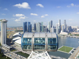 Singapore, Elevated View over the City Centre and Marina Bay Photographic Print by Gavin Hellier