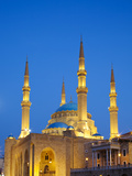 Lebanon, Beirut, Mohammed Al-Amin Mosque at Dusk Photographic Print by Nick Ledger