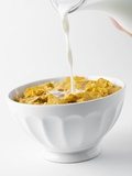 Pouring Milk on Cornflakes Photographic Print by Toni Eichhorn