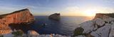 Italy, Sardinia, Sassari District, Alghero, Capo Caccia, Characteristic White Cliffs of Capo Caccia Photographic Print by Francesco Iacobelli