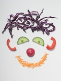 Amusing Vegetable Face Photographic Print