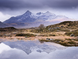 The Cuillins Reflected in the Lochan, Sligachan, Isle of Skye, Scotland, UK Photographic Print by Nadia Isakova