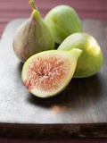 Three Whole Figs and One Half Fig Photographic Print