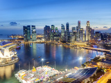 Elevated View over Singapore City Centre and Marina Bay, Singapore Photographic Print by Gavin Hellier
