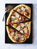 Potato Pizza, Cut into Pieces Photographic Print
