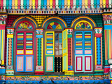 Singapore, Little India, Colourful Heritage Villa, Once the Residence of Tan Teng Niah Photographic Print by Gavin Hellier