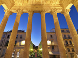 France, Provence, Nimes, Maison Caree, View Through Pillars Photographic Print by Shaun Egan