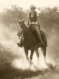 Cowgirl, Apache Spirit Ranch, Tombstone, Arizona, USA MR Photographic Print by Christian Heeb