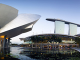 Singapore, Art Science Museum and Marina Bay Sands, Marina Bay Photographic Print by Gavin Hellier