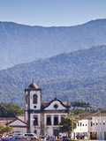 Brazil, Parati, the Portuguese Colonial Town Centre and the Church of Saint Rita of Cascia Seen fro Photographic Print by Alex Robinson
