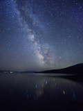 Night Sky at Diamond Lake, Chemult, Oregon, USA Photographic Print by Christian Heeb