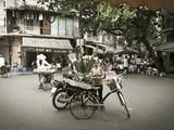 Flower Seller in the Old Quarter, Hanoi, Vietnam Photographic Print by Jon Arnold