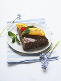 Chocolate Rice Dessert with Caramelised Orange Photographic Print
