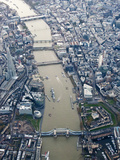 View of London from the Air, England, UK Photographic Print by Nadia Isakova